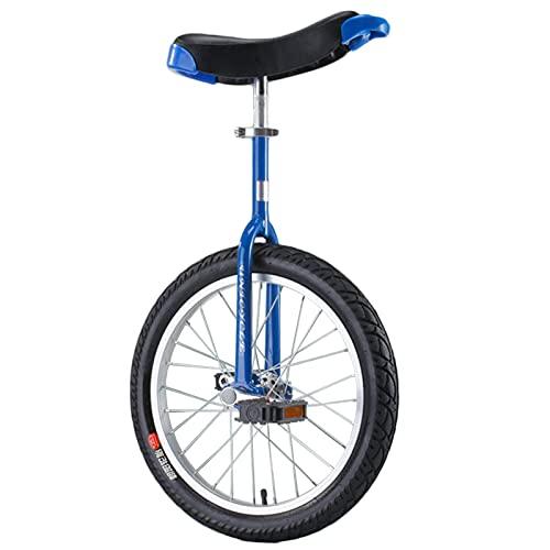 Monociclo Azul De 16'/ 18' para Niños Y Niñas, Bicicleta De 20'/ 24' para Adolescentes/Adultos/Personas Altas, Bicicleta De Una Rueda con Marco De Acero Y Llanta De Aleación Duradera