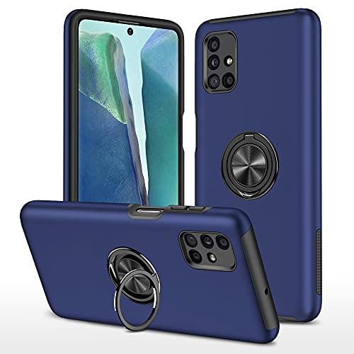 Lavender1 Funda para Samsung Galaxy M51, carcasa Armor Ring M51, carcasa de PC y TPU de silicona, resistente a los golpes, con soporte integrado, carcasa para Samsung M51 (azul)