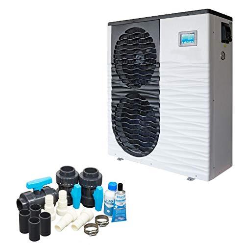 well2wellness Full-Inverter Pool Wärmepumpe Mida.Boost 24 - Poolheizung mit Einer Heizkapazität bis 24,2 kW + Bypass Set Basic