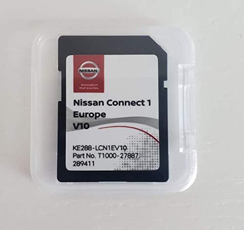 Nissan Connect 1 SD-Karte Sat Nav Update V10 2020/2021 Cover All Europe Micra, Note, Cube, Juke, X-Trail, Cabstar, NV200, Teilenummer KE288-LCN1EV10 T1000-27887
