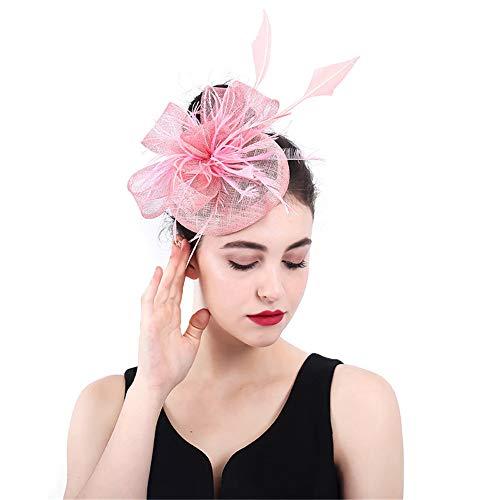 Jklj Pince à Cheveux Coiffe De Plumes Femmes Mesh Net Flower Pillow Hairpin Charme Hat Rétro