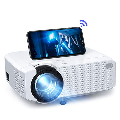 "Phone Projector, Mini Portable WiFi Movie Projector Crosstour, Home Theater LED Wireless Video Projector for iPhone Android iPad, Support 176"" Screen HD 1080P, Compatible with HDMI USB TV Stick PS4"