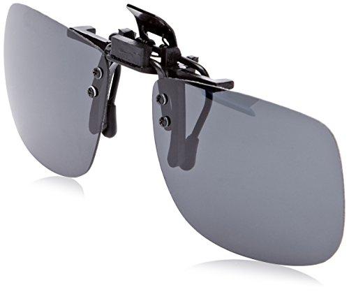 Montana Eyewear 1970A Sonnenglasvorhänger/Brillenclip für Brillen zum hochklappen mit grau getönten Gläsern