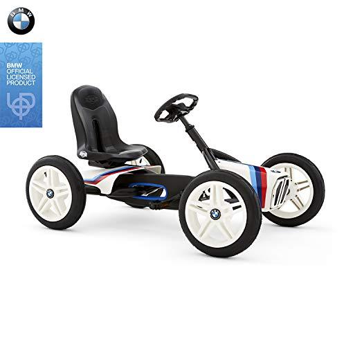 BERG Pedal-Gokart, Für Kinder von 3 bis 8 Jahren, Bis 50 kg, BMW Street Racer, Schwarz/Weiß