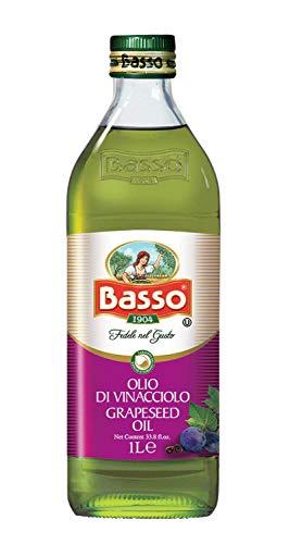 Olio di Semi di Vinacciolo alimentare da condimento in bottiglia di vetro da 1 litro