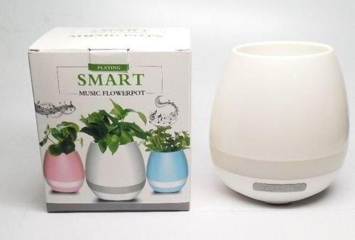 K3 Smart Music Flower Pots Multi Color Light Bluetooth Speaker Bluetooth Piano (White)