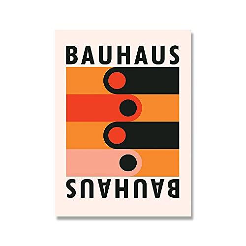Arte abstracto de la pared de la exposición de la puerta de la Bauhaus, carteles e impresiones nórdicos, decoración del hogar, pinturas en lienzo sin marco A2 70x100cm