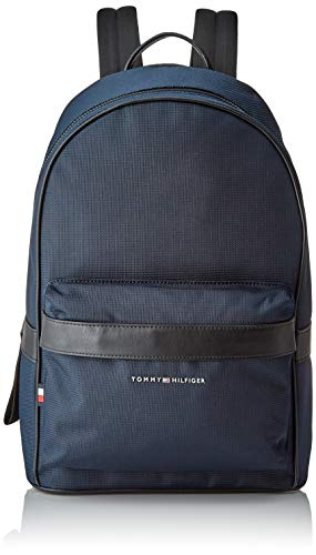 Tommy Hilfiger Elevated Nylon Backpack, Bolsas. para Hombre, Desert Sky, One Size