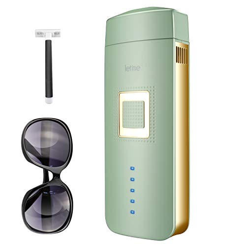 IPL Hair Removal for Women and Men Painless Permanent Hair Removal Device At-Home Laser Hair Remover for Facial Whole Body, Upgrade to Unlimited Flashes (Green)