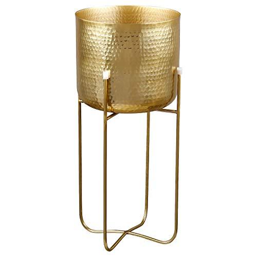 My- Stylo Collection Pflanzkübel mit Ständer, goldfarben, 20 cm, Produktgröße Länge: 20 cm, Breite: 20 cm,...