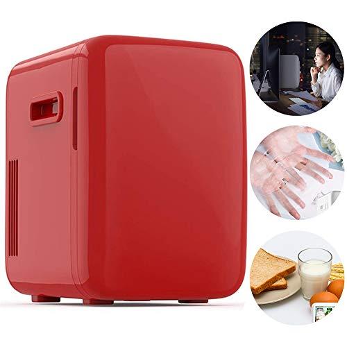 GOLDGOD Mini-Kühlschrank, kleines Auto Kühlschrank Milch Lagerung Mini-Kühlschrank für Haushalt-beweglichen and Quiet Mini-Kühlschranks Cooler & Warmer/Compact Refrigeration,Rot,10L~220 * 320 * 340mm