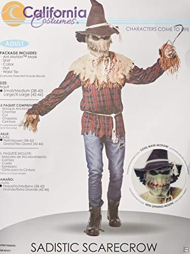 Disfraz de espantapájaros sádico para hombre