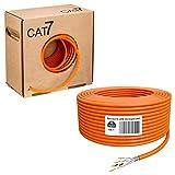 HB-DIGITAL 50m Cavo di rete Cat.7 cavo di rete cavo dati cavo Ethernet cavo LAN installare, per prese a muro & patch panel in rame S/FTP PIMF LSZH senza alogeni conforme alla normativa RoHS AWG 23/1