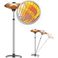Raoccuy 1500W Electric Outdoor Patio Heater with 3 Power Modes