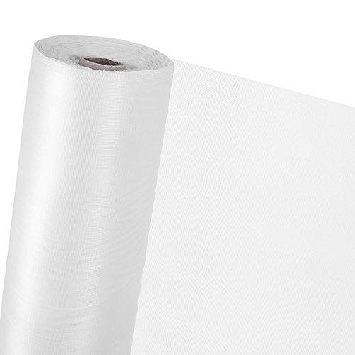 Moustiquaire 1,5 m²; Filet de protection contre les insectes (au mètre) (Blanc, 150 cm de largeur)