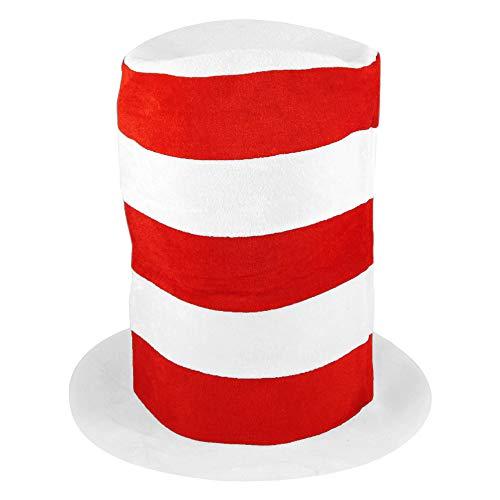 German Trendseller® Riesen - Hut - Rot / Weiß Gestreift - Premium - Deluxe -┃ Extra Groß ┃ Kindergeburtstag ┃ Katze | Der Kater mit Hut | Hut