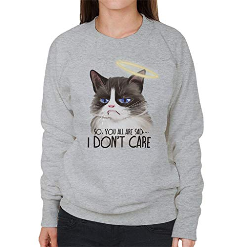 Cloud City 7 I Dont Care Cat Halo Women's Sweatshirt