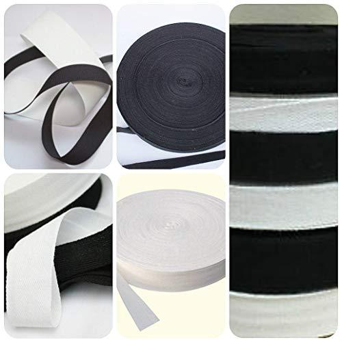 Guirlande traditionnelle en coton Blanc 25 mm à ruban inclus