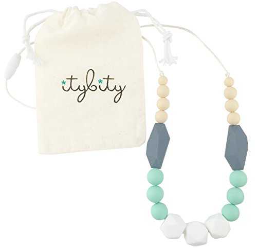 Product Image of the Baby Teething Necklace for Mom, Silicone Teething Beads, 100% BPA Free (White,...