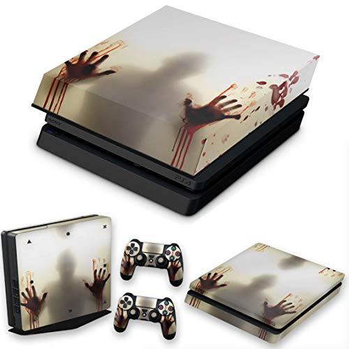 Capa Anti Poeira e Skin para PS4 Slim - Fear The Walking Dead
