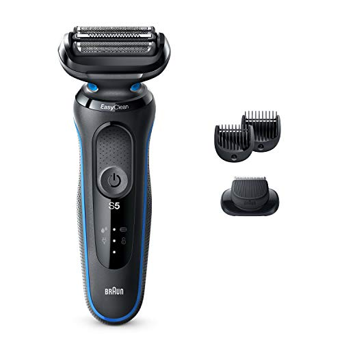 Braun Electric Razor for Men, Series 5 5020s Electric Shaver with Beard Trimmer, Rechargeable, Wet & Dry Foil Shaver with EasyClean