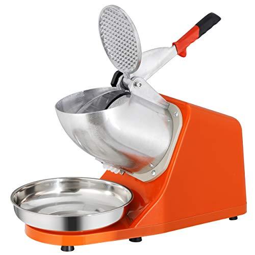 ZENY Electric Ice Crushers 300W 2000r/min w/Stainless Steel Blade Shaved Ice Snow Cone Maker Kitchen Machine (Orange)