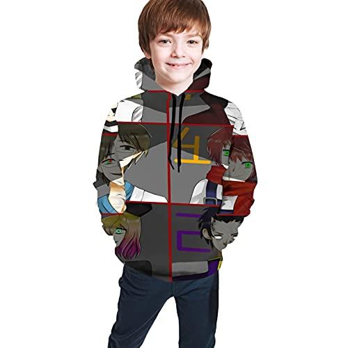 Angels Of Death Anime Teen Hoodie Sweate Pockets Boys Girls Casual 3d Digital Print Unisex Pullover Sweatshirts Fashion Sweaters Medium