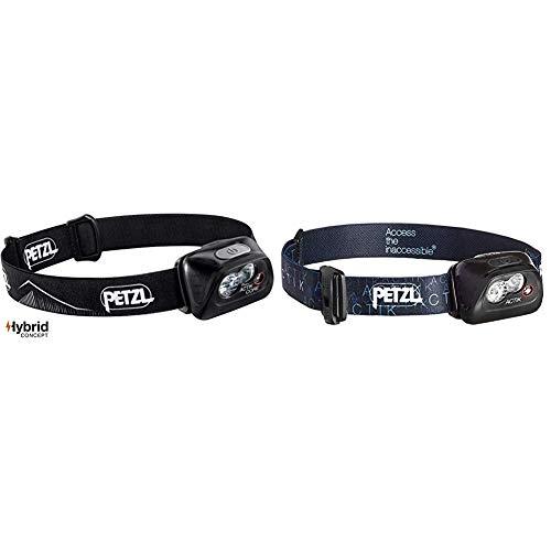 PETZL Actik Core Linterna Frontal, Unisex Adulto, Negro, Talla Única + Actik Linterna Frontal, Unisex Adulto, Negro, Talla Única