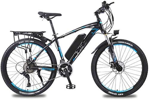 Bicicleta eléctrica de nieve, 26 pulgadas bicicletas eléctricas bicicleta de la montaña, batería 36V13A de litio de la bici 350W Motor LED Faros Bicicletas Batería de litio Playa Cruiser para adultos