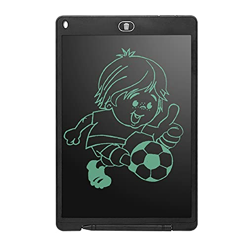 Aland 12 Inch Writing Tablet with LCD Screen Multifunctional Pressure Sensing ABS Protective Handwriting Paper Drawing Tablet Lightweight Drawing Board for Children Black