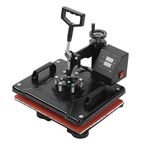 Impresora de transferencia de calor, máquina de tazas para hornear 1450W 6 en 1 Máquina de prensa de calor de 38 * 38 cm, para(European standard 220V)