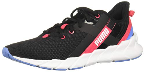 PUMA Womens Weave Xt Shift Sneaker - Black White Red,Black White Red,8