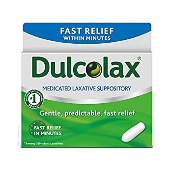 Dulcolax Fast Relief Medicated Laxative Suppositories Bisacodyl 10 mg 28 Count