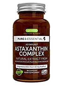 immagine di Pure & Essential Astaxantina Naturale, Complesso Antiossidante di AstaPure da 42 mg, con luteina e zeaxantina, vegan, 90 capsule