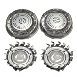 Electric Shaver Replacement Head Blade Network for Philips (Silver) - Pack 3 Pieces