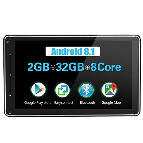 4Go de RAM 64Go de ROM JOYFORWA St/ér/éo de Voiture avec Android 8.1 de 9 Pouces Single Din avec 4G LTE Connexion WiFi Android Auto//DSP//SPDIF//D/émarrage Rapide//Bluetooth // OBD2 // TPMS//DVR