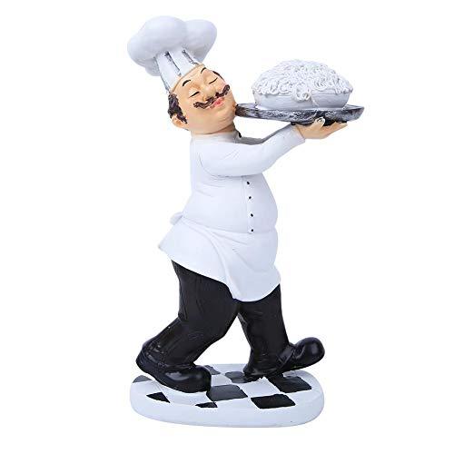 Cikonielf Figura decorativa de resina para chef de cocina, decoración de pastelería, decoración de regalo, adorno de cocina, función de resina, decoración para restaurante elegante café (#2)