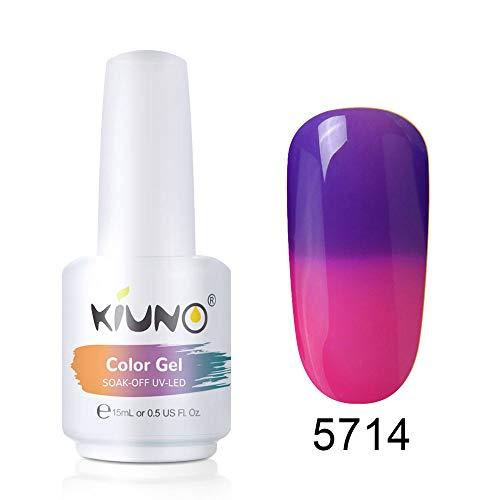 KIUNO Esmaltes Semipermanentes, Uñas de gel UV LED Camaleón Cambia de Color con la Temperatura, Pintauñas Semipermanentes para Manicura y Pedicura 15ML-TC-5714