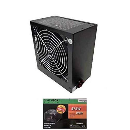 Fuente de alimentación para PC ATX 575 W 120 mm Super Silent Blackbox Tech SATA IDE 4 + 4 polos Molex floppy case Retail