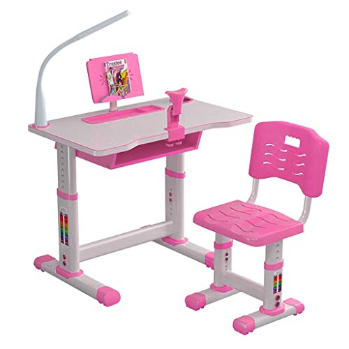 Q/S Kids' Desk Kids Elementary Desk Children's Tombined Study Table Desk and Chair Set Teenager(Table:80x49cm)