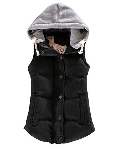 Chaleco Abrigo De Invierno Mujer Acolchado Abrigo de Invierno Capucha Extraíble Mujer Oversized Hanyixue