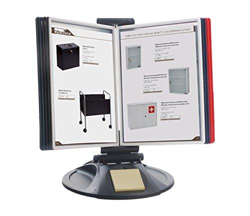 OfficeForce® Sichttafel-Tischständer mit Klapprahmen, rund (01126)