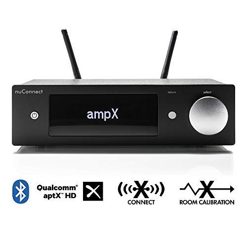 Nubert nuConnect ampX | digitaler Vollverstärker | Wireless Connector für nuPro X | Phonoverstärker MM/MC mit Bluetooth aptX HD | Stereoverstärker mit 2 x 130 W | Verstärker mit USB DAC | Schwarz