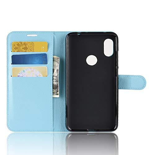 TenYll Hülle für Lenovo Z5s,Wallet Tasche PU Schutzhülle [Premium Leder] [Ultra Slim] [Card Slot] [Ständer] Flip Wallet Hülle Etui für Lenovo Z5s -Blau