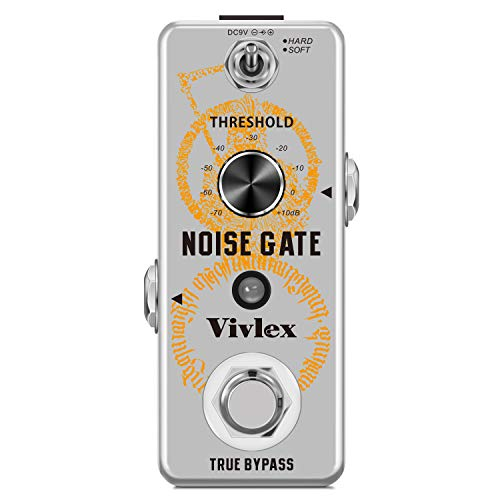 Vivlex LEF-319 Puertas de ruido Noise Gate Noise Gate Suressor Pedal para guitarra eléctrica bajo con True Bypass