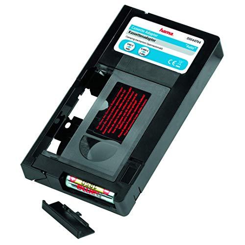 Hama Kassettenadapter für VHS-C Videokassetten (Automatisch, Batteriebetrieben) schwarz