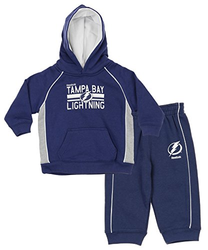 Outerstuff NHL Little Boys Todders/Infants Classic Fan 2 Piece Hoodie & Pant Set, Tampa Bay Lightning