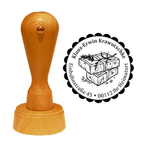 Stempel zeep - met persoonlijk adres - Ø 40 mm