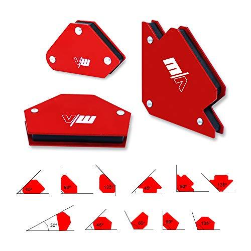 Schweißmagent Set Winkelschweißmagnet zur Fixierung des Werkstück bei Schweißarbeiten von Vector Welding, 6 Stück Set