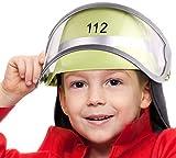 Balinco Feuerwehrhelm 112' für Kinder mit Klappvisier & Nackentuch | Größe verstellbar | ideal...